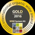 Gold 2016 International Organic Wine Award