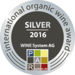 Silver 2016 International Organic Wine Award