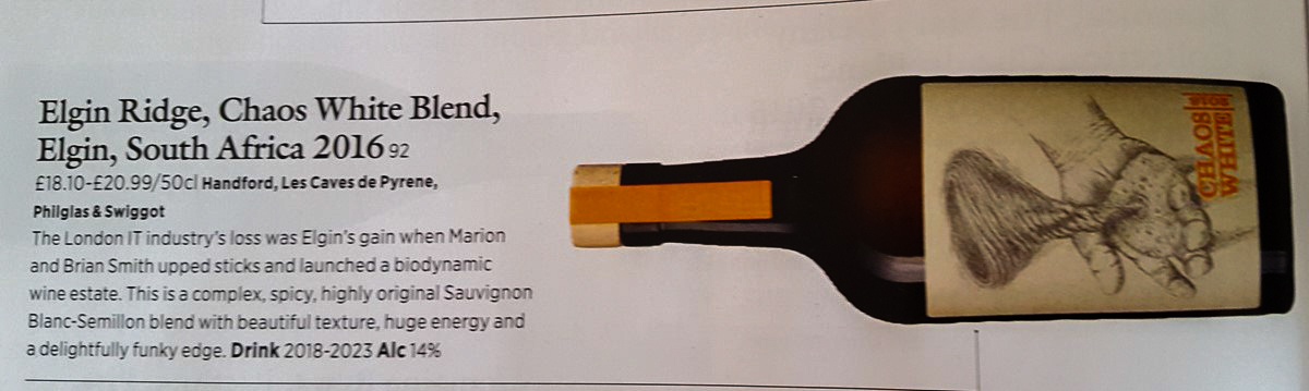 Elgin Ridge - New World great wine by Peter Richards