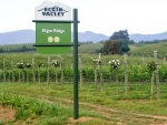 Elgin Ridge Wines, sign at the farm entrance