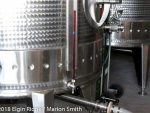 Pinot Noir in tank at Elgin Ridge Cellar