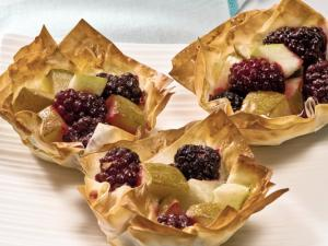 Pear and blackberry tarts