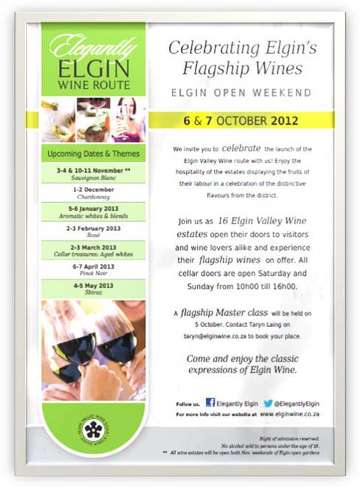 Elgin Wine Week End banner