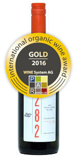 2015 Sauvignon Blanc - gold international organic wine award