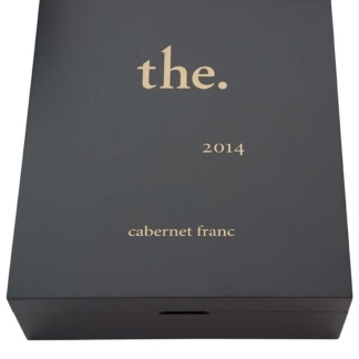 Specially designed luxury box holding the The. Cabernet Franc 2014