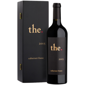 Specially designed luxury box holding the The. Cabernet Franc 2015