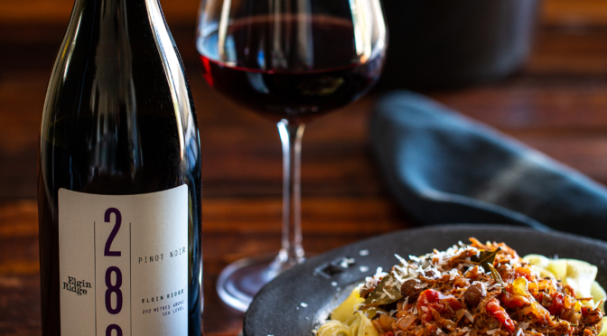 Father's Day Recipe: Duck Ragù paired with the Elgin Ridge Pinot Noir 2015